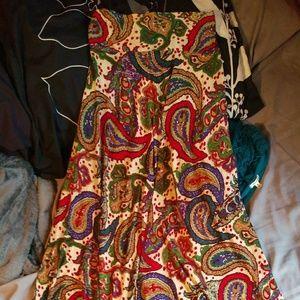 Strapless summer dress or long skirt